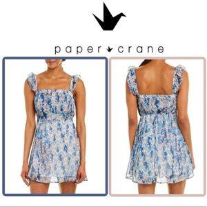 🆕Arrival! ANTHRO PAPER CRANE Ruffled Sleeve Dress
